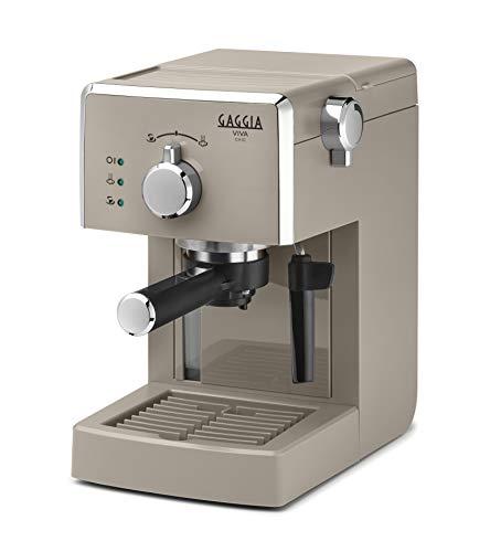 Gaggia Viva Chic Cappuccino RI8433 14 Macchina da Caffè Espresso Manuale, per Macinato e Cialde