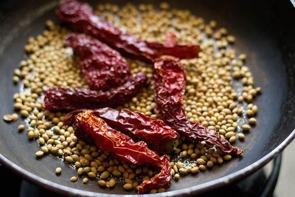 épices pour kadai masala à rôtir
