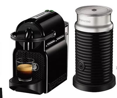 Véritable machine à café Nespresso Inissia - Magimix noir avec Aeroccino.