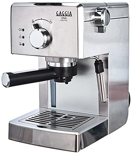 Gaggia RI8437 11 Viva Prestige Machine à café expresso manuelle, pour moulu et dosettes, 1025W, 15 bars, acier inoxydable